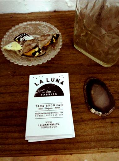 La Luna pop up shop set up for the Lonsdale Street Traders.